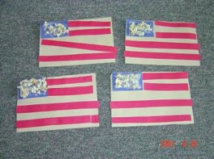 4th of July USA flag popcorn craft