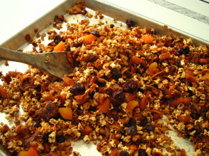 dried fruit sorghum granola