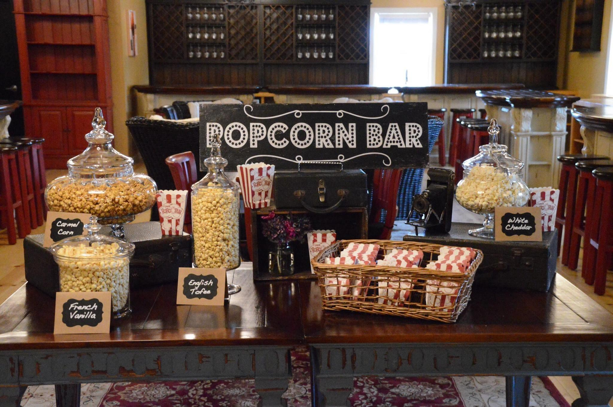 Popcorn Bar With JustPoppin.com Popcorn