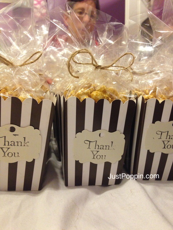 Popcorn Party Favors Thank You